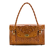 Patricia Nash Leather Burnished Tool Satchel - Sanabria - A352161