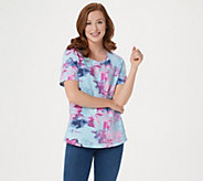 Denim & Co. Active French Terry Printed Top - A354161