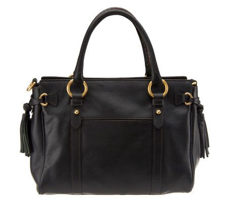Dooney   Bourke Florentine Leather Large Pocket Satchel - Page 1 — QVC.com ece206fdbf458