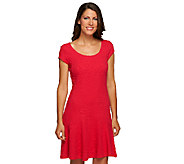 Isaac Mizrahi Live! Knit Dress with Fluted Hem - A255662