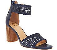 C. Wonder Leather Cutout Sandals w/ Tassels - Katie - A275662