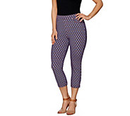 Susan Graver Weekend Printed French Knit Capri Pants - A276462