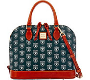 Dooney & Bourke NFL Raiders Zip Zip Satchel - A285762