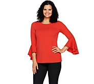 Du Jour Scoop Neckline Bell Sleeve Knit Top - A293762