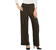 As Is Joan Rivers Petite Shimmering Knit Pull-On Pants - A295462