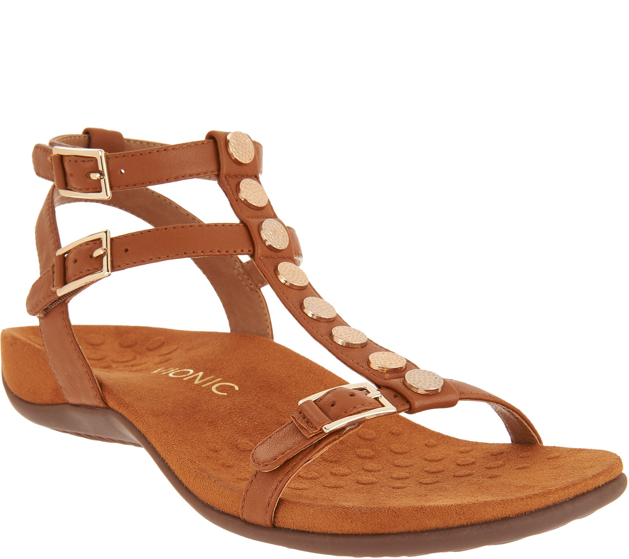 Vionic Leather Multi-Strap Sandals - Hailey latest collections online qTYo8mfFQD
