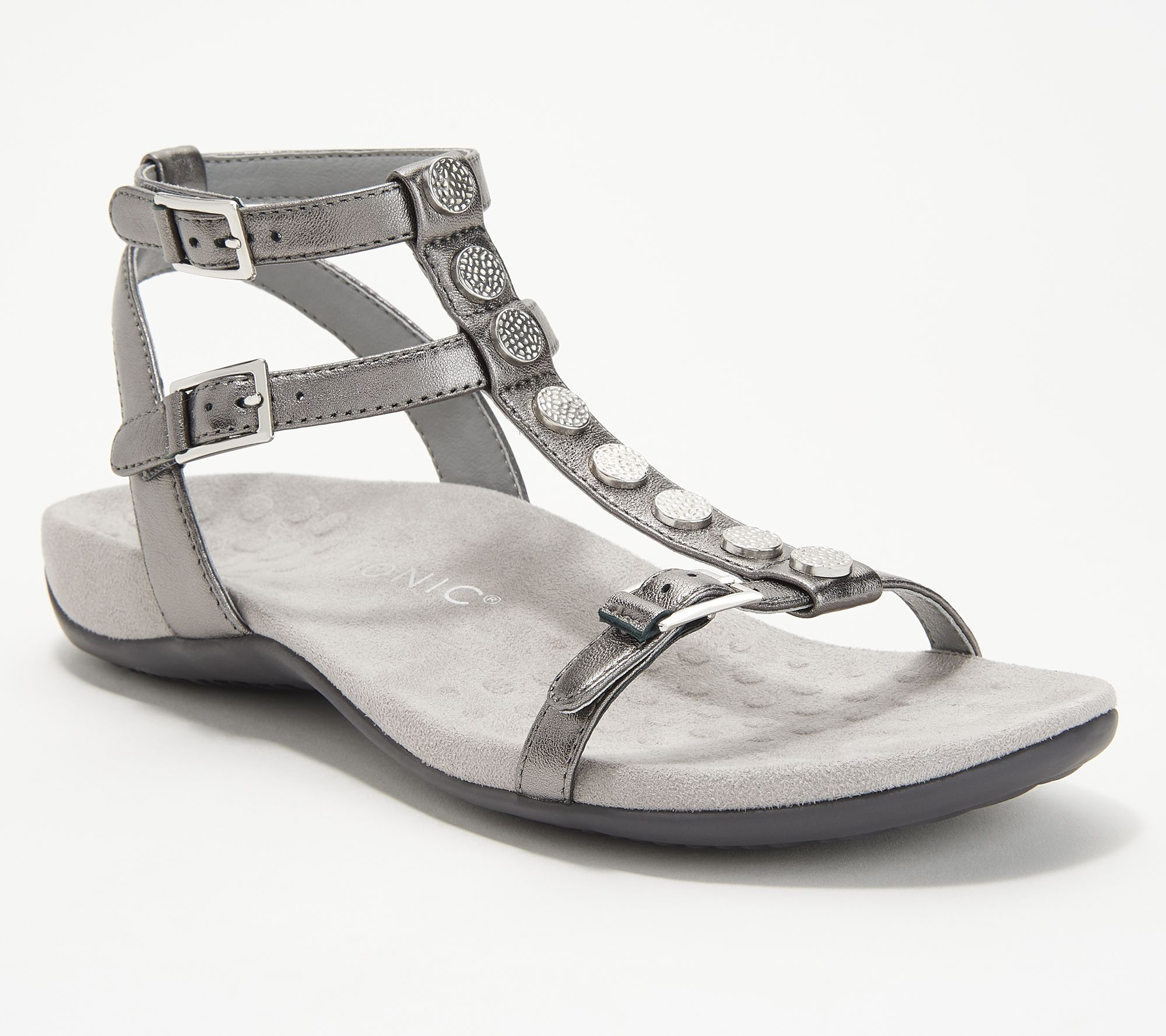 1176bdaef70e Vionic Leather Multi-Strap Sandals - Hailey - Page 1 — QVC.com