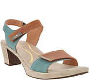Naot Leather Ankle Strap Block Heeled Sandals - Intact - A305662