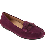 Vionic Suede Moccasins with Bow Detail - Norah - A309062