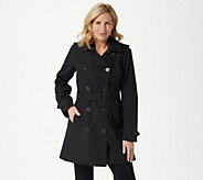 Dennis Basso Water Resistant Trench Coat - A346662