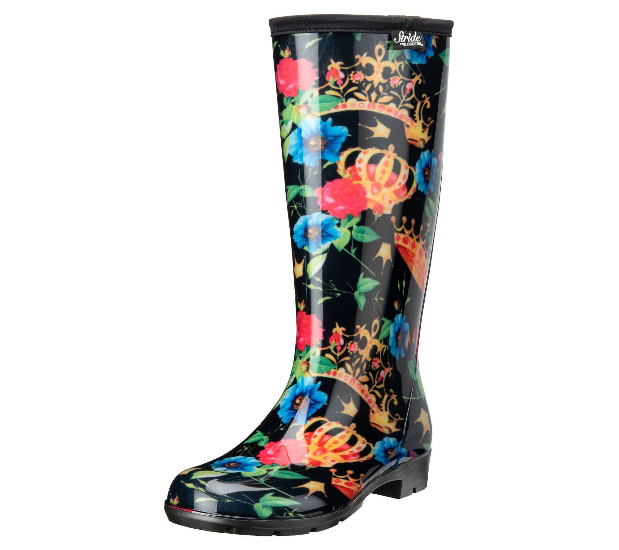 5218fa12080 Stride by Sloggers Waterproof Tall Fashion Rainboots - Page 1 — QVC.com