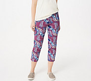 Women with Control Petite Pull-On Printed Crop Pants - A350562