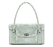 Patricia Nash Leather Tooled Satchel - Sanabria - A352162