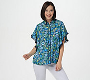 Image result for Laurie Felt Button Front Blouse with Butterfly Sleeves