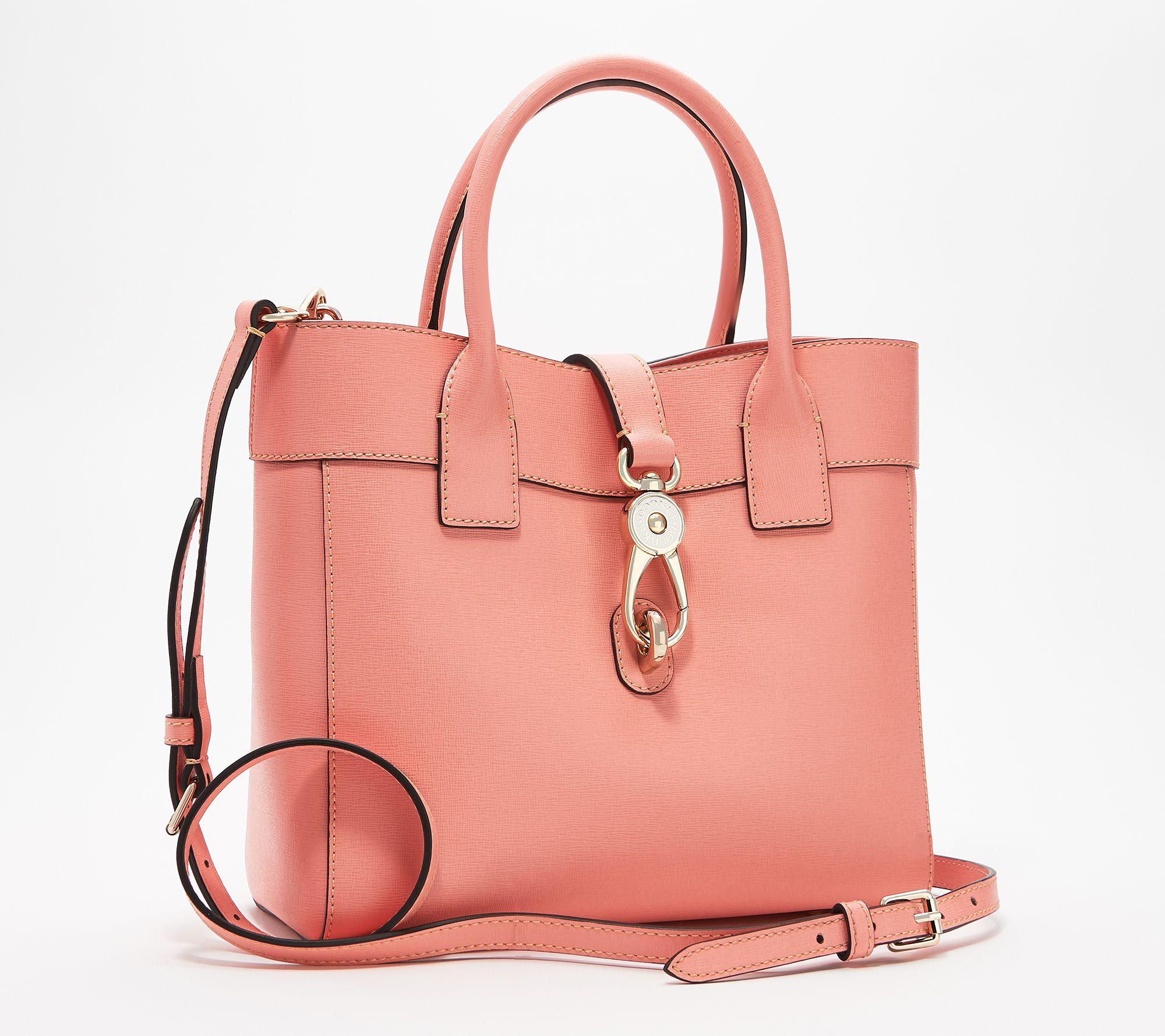 3387ec01eaff Dooney & Bourke Saffiano Leather Tote - Cara — QVC.com
