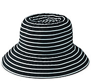 San Diego Hat Co. Striped Ribbon Braid Bucket Hat - A412562