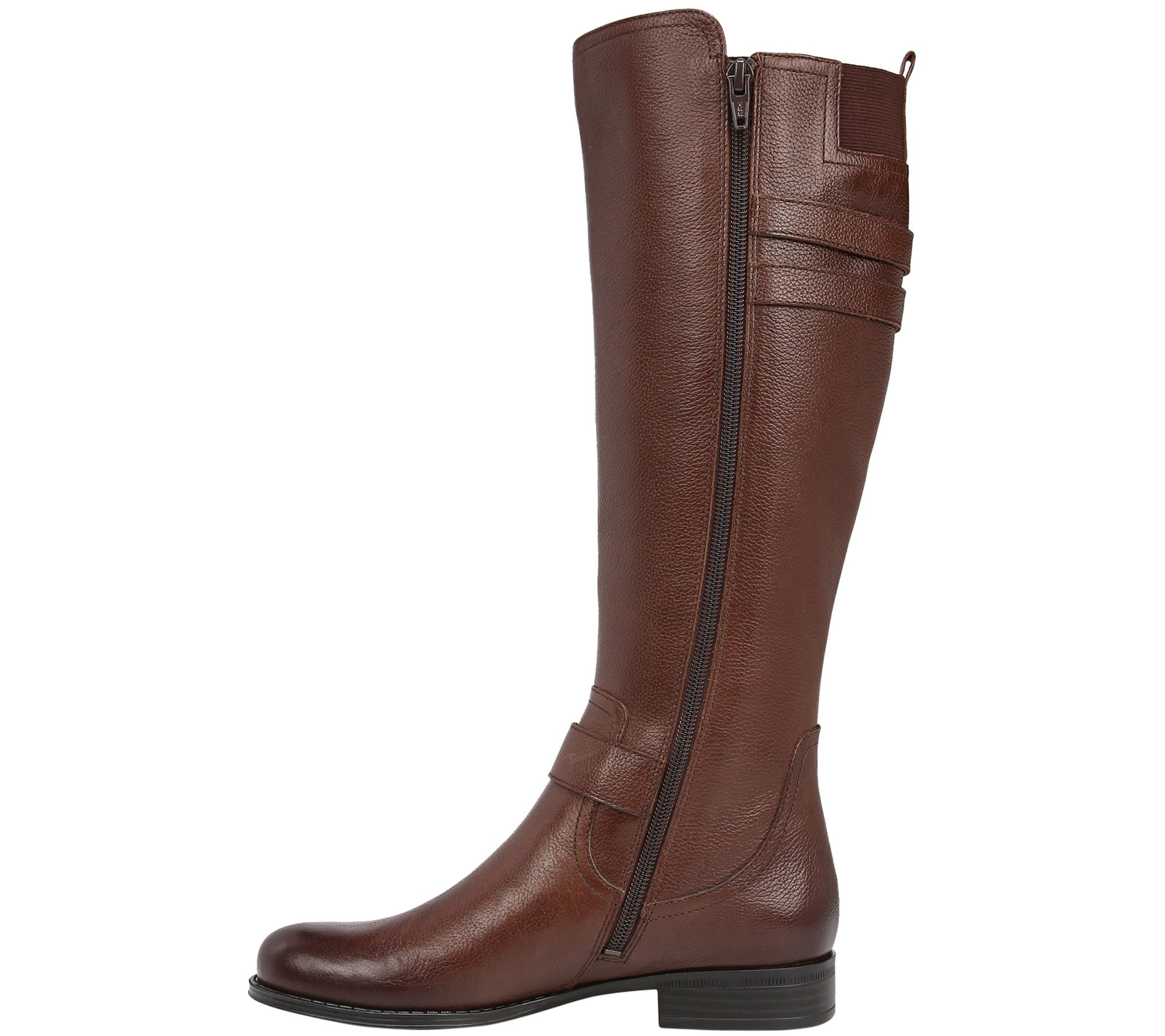 e24c992952f4 Naturalizer Low Heel Leather Riding Boots - Jessie Wide - Page 1 — QVC.com