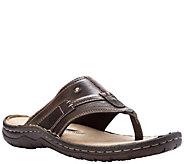Propet Mens Wide Based Leather Flip-Flop Sandals - Jonas - A423762