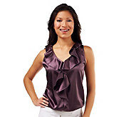 Kathleen Kirkwood Undercover Agent Ruffle Blouson Cami - A224163