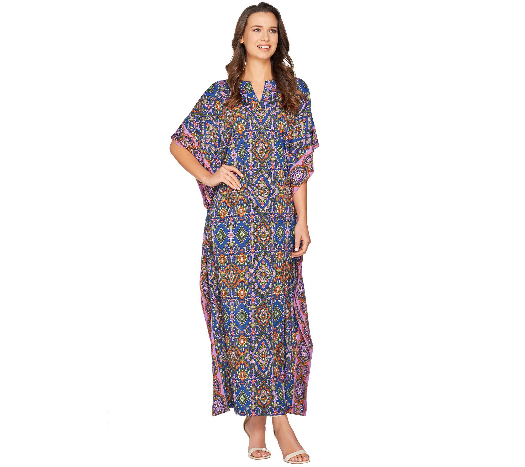 Joan Rivers Spice Market Jersey Knit Caftan — QVC.com