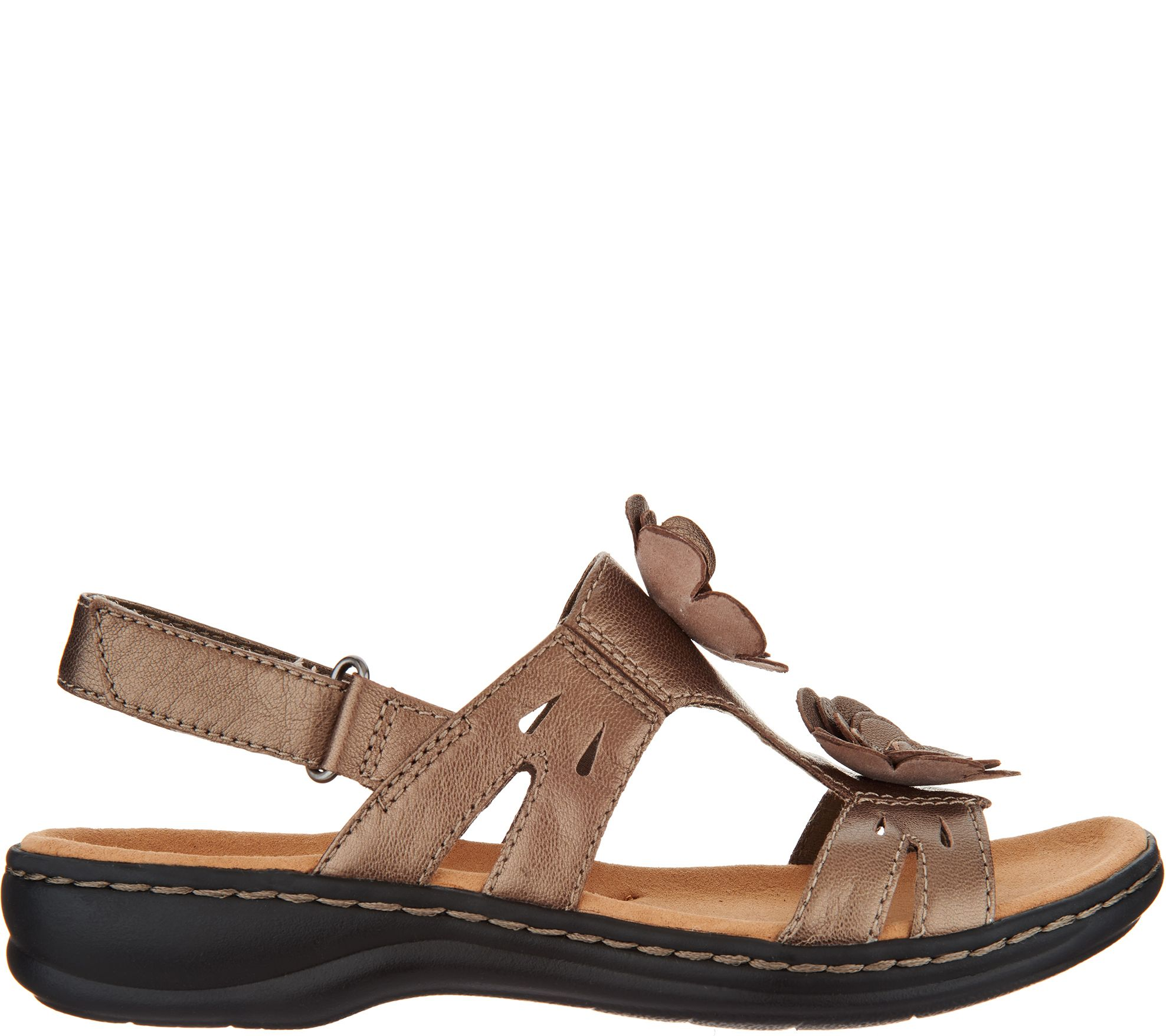 5b69ddda8768 Clarks Leather Lightweight Sandals with Flower Detail - Leisa Claytin -  Page 1 — QVC.com