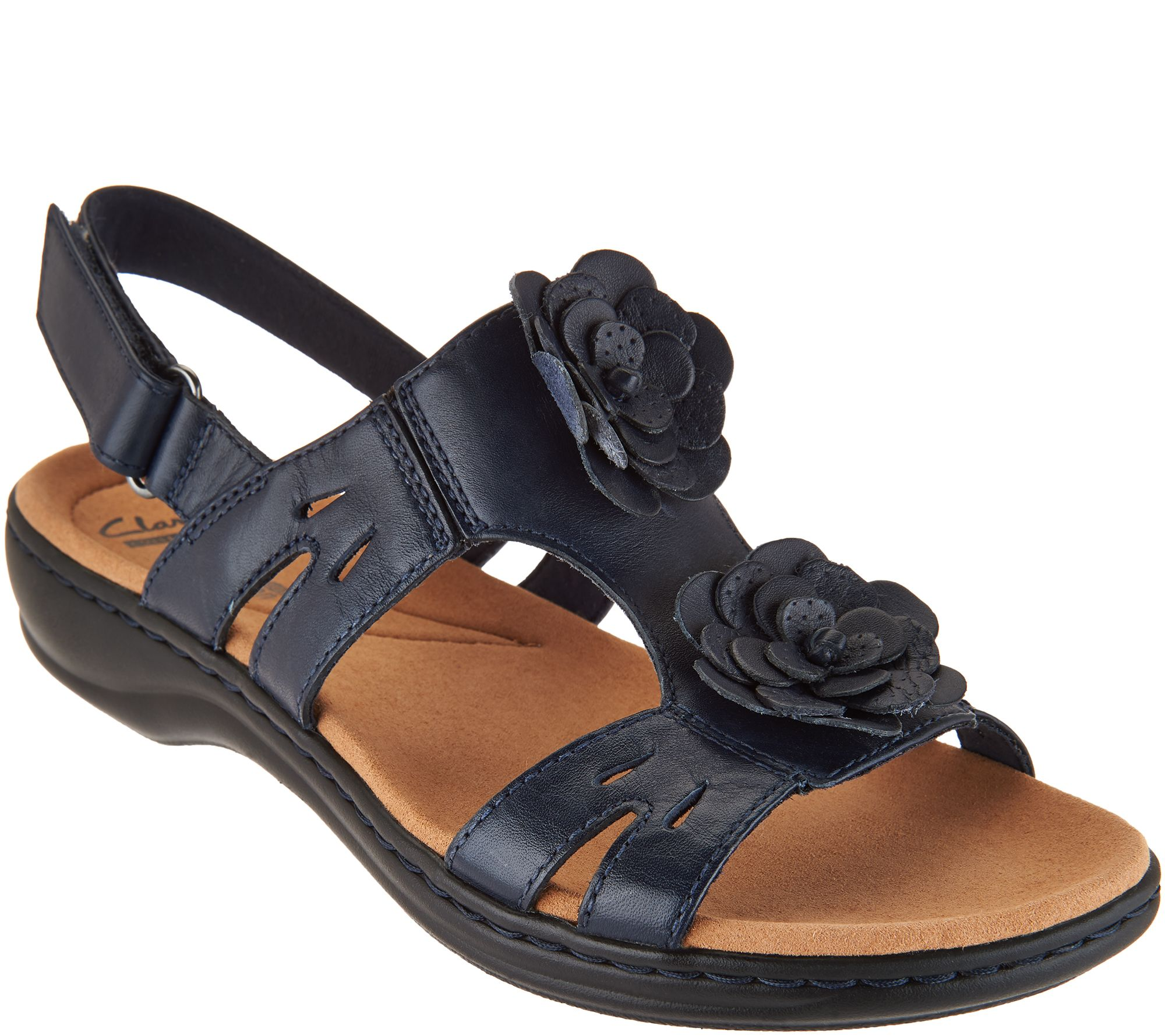 46cc104ce00 Clarks Collection Leather Sandals - Leisa Claytin — QVC.com