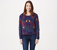 Laurie Felt Embroidered Boho Style Round Neck Blouse - A301663