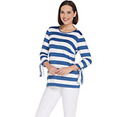 Joan Rivers Striped Tee with Tie Detail - A304463