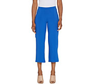 Women with Control Petite Pull-On Pintuck Crop Pants - A306463
