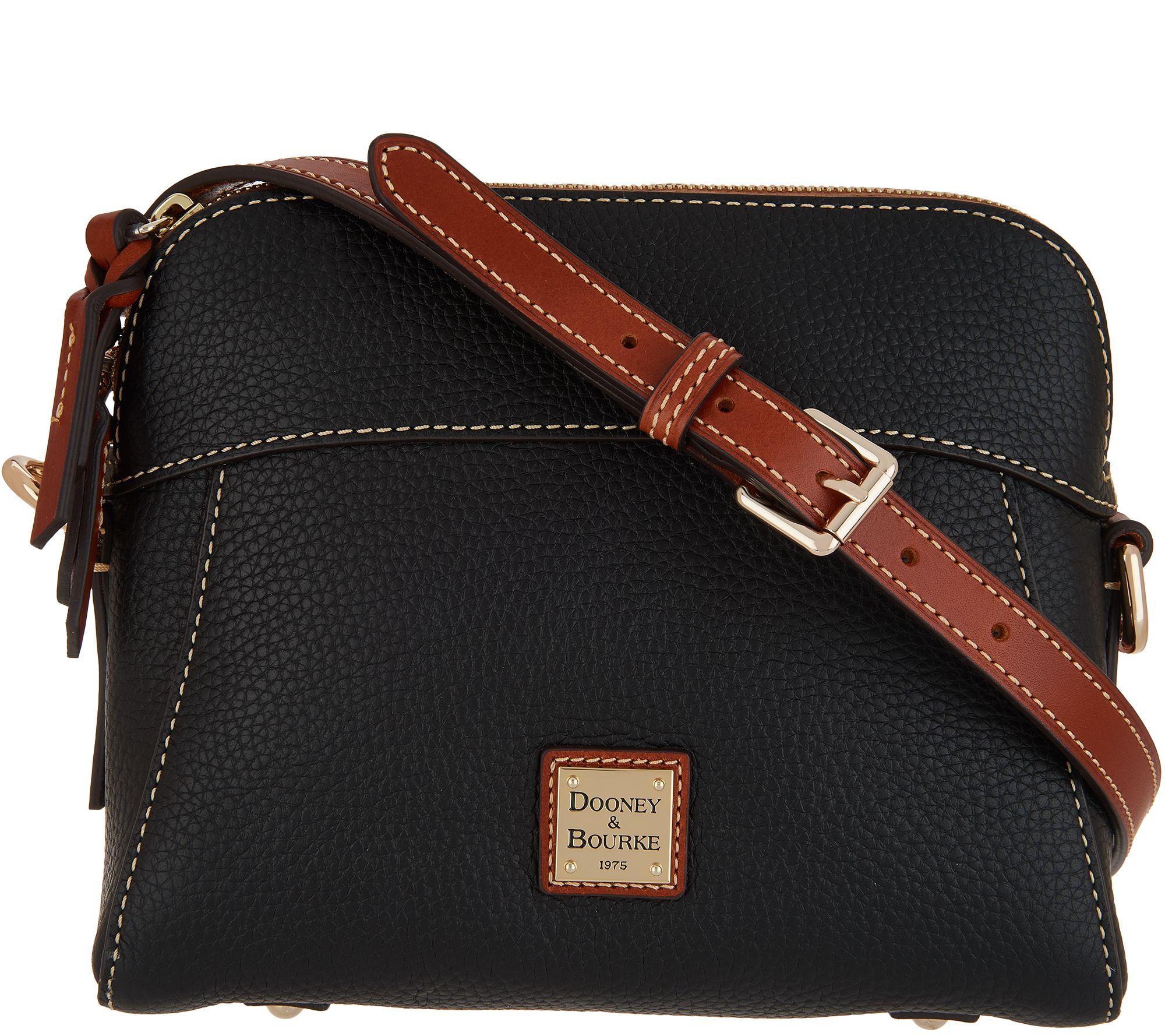9b9164d8eef1 Dooney   Bourke Pebble Leather Crossbody - Cameron - Page 1 — QVC.com