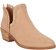 Vince Camuto Leather Exposed Ankle Booties - Prafinta - A310563