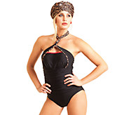 Carol Wior Slimsuit Cheetah in the Red 4-Way Bandeau Swimsuit - A333763