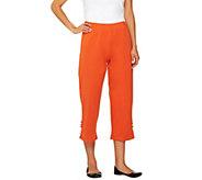 Bob Mackies Stretch Ponte Knit Crop Pants - A05664