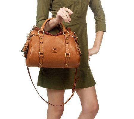 Dooney Bourke Florentine Vachetta Leather Small Satchel Page 1 Qvc