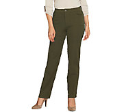 Isaac Mizrahi Live! Petite 24/7 Stretch 5 Pocket Pants - A258764