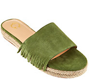 C. Wonder Suede Flat Espadrilles with Fringe - Tabitha - A278664