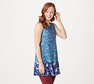 LOGO Layers by Lori Goldstein Double Print Knit Tank with Ruffle Hem - A285364