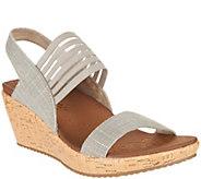 Skechers Sling Back Stretch Wedge Sandals - Smitten Kitten - A287764