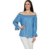 Du Jour Off the Shoulder Denim Top - A293764