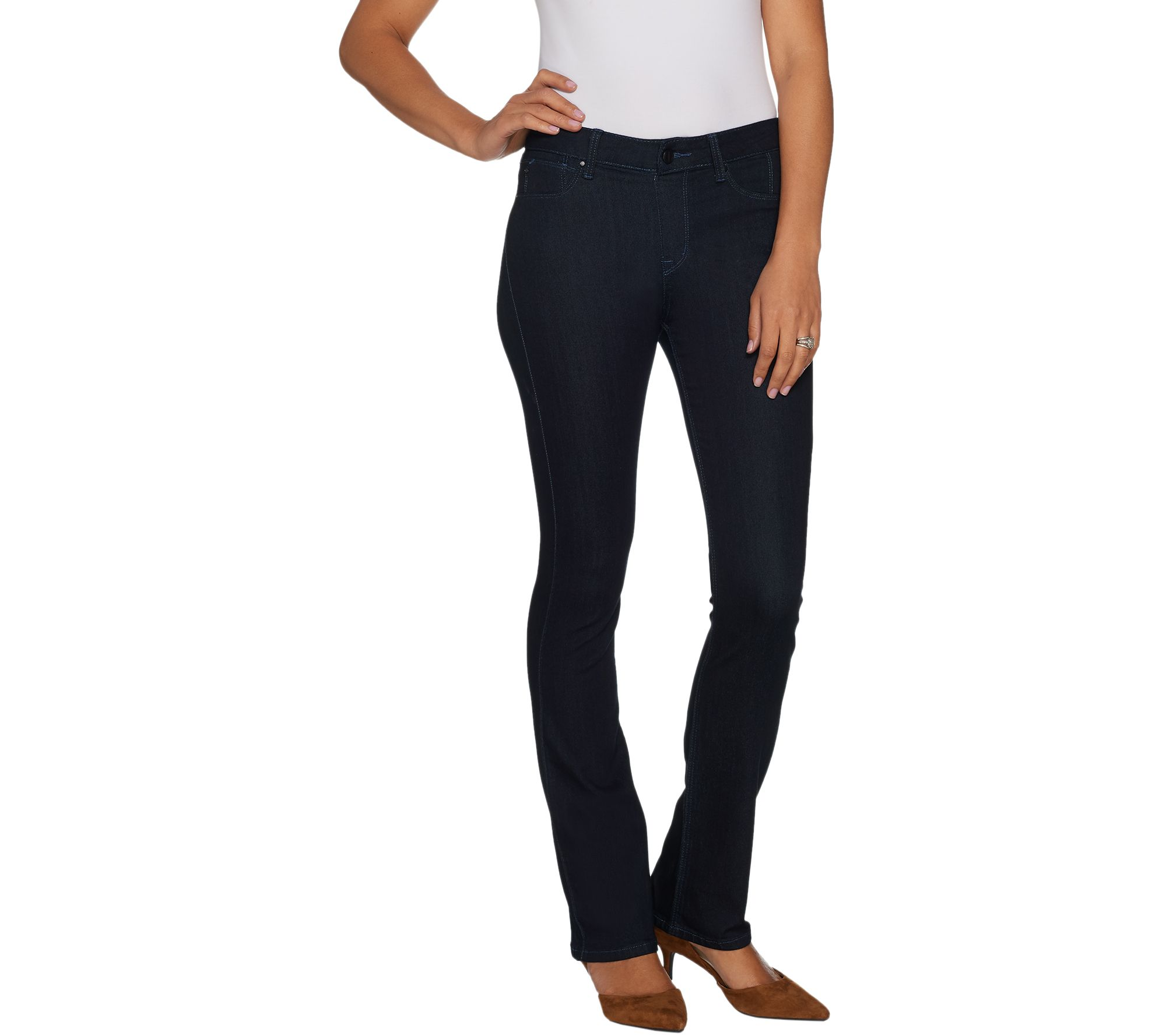 Hot in Hollywood Women/'s Regular Baby Bell Jeans Blue Indigo 2X Plus Size QVC