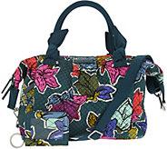 Vera Bradley Signature Print Hadley Satchel Handbag with RFID ID Case - A296464