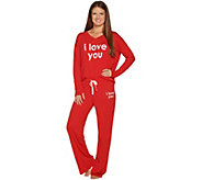 Peace Love World Affirmation Knit Pajama Set - A298864