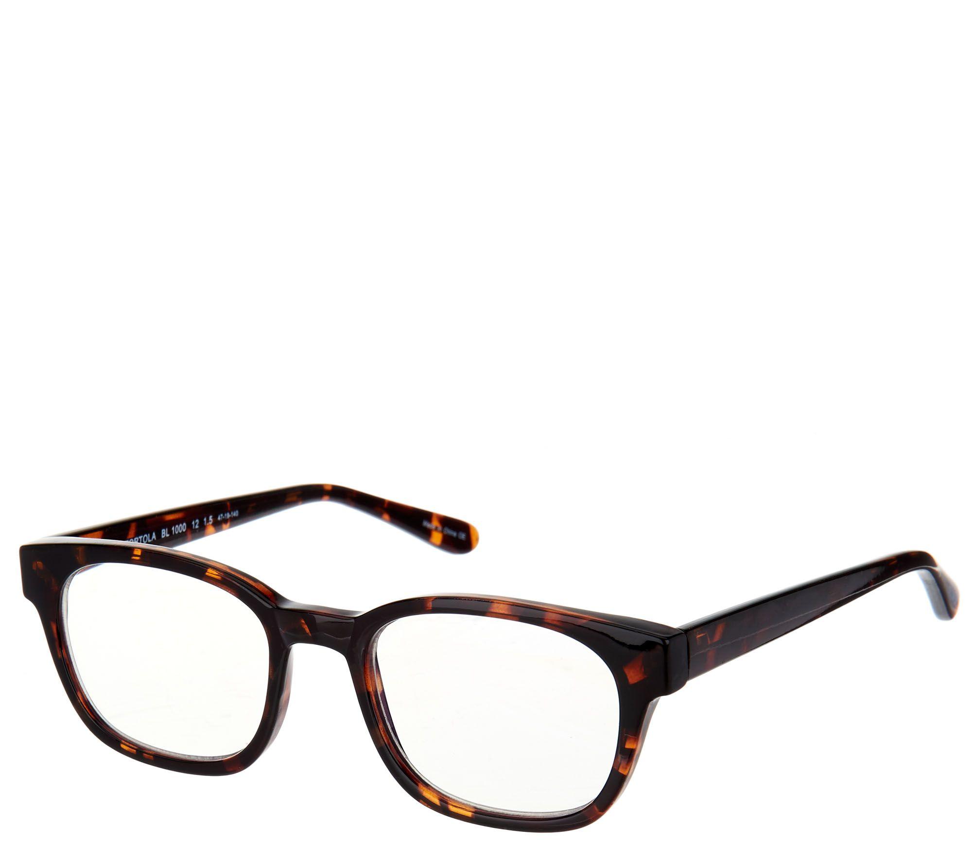 d996157e74e BluVue Blue Light Reading Glasses Strength 1-2.5 - Page 1 — QVC.com