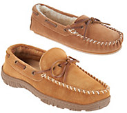 Clarks Suede Moccasin Slippers - A305964
