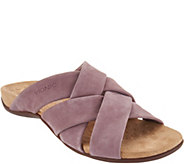 Vionic Suede Cross-Strap Slide Sandals - Juno - A307364