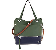 orYANY Lamb & Pebble Leather Convertible Satchel - Sofia - A307964