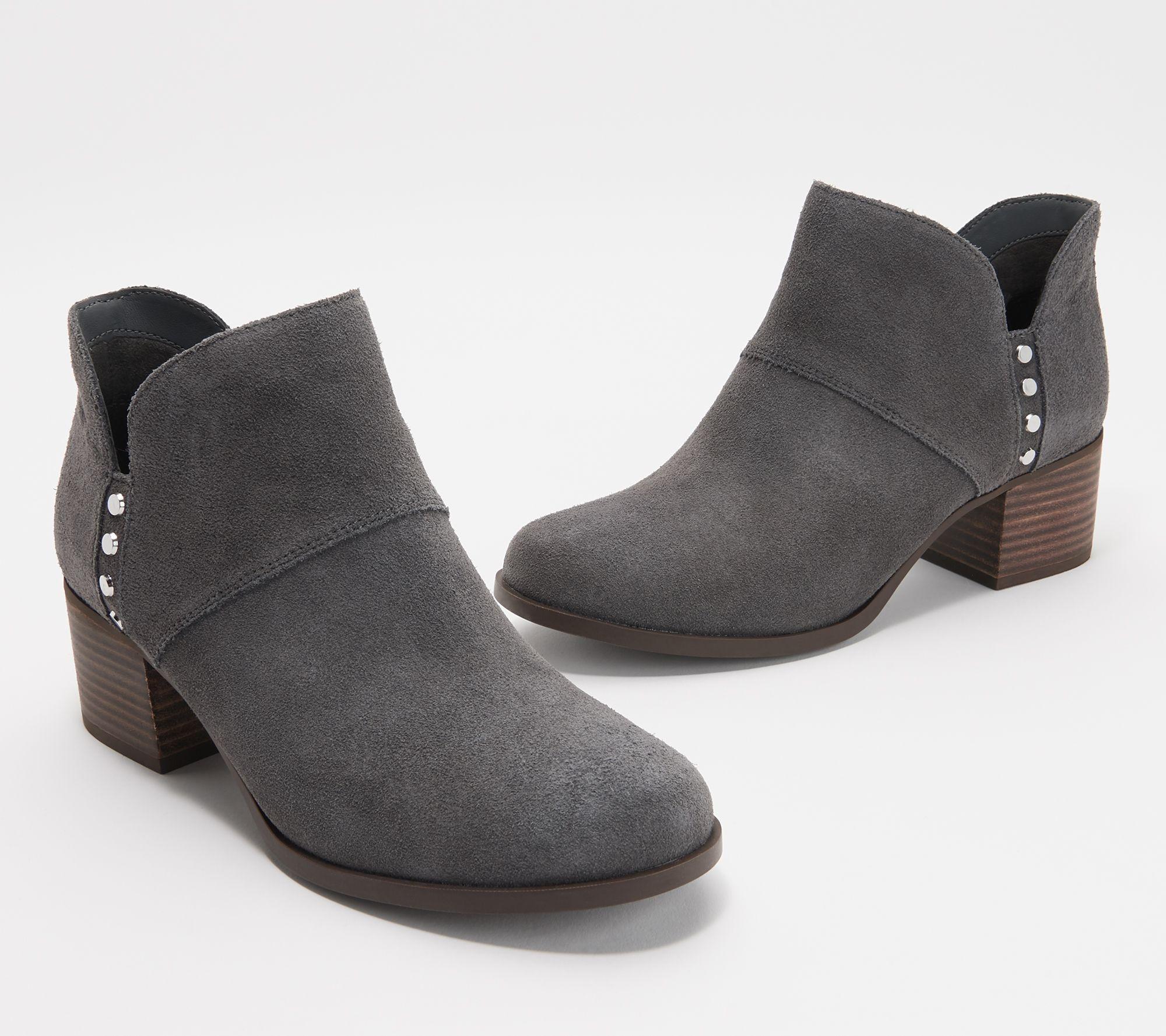 327bb932ebb Koolaburra by UGG Suede Studded Ankle Boots - Sofiya — QVC.com