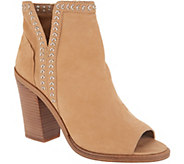 Vince Camuto Leather Peep-Toe Ankle Booties - Kemelly - A310564
