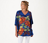 Quacker Factory Exploded Floral Top - A351164