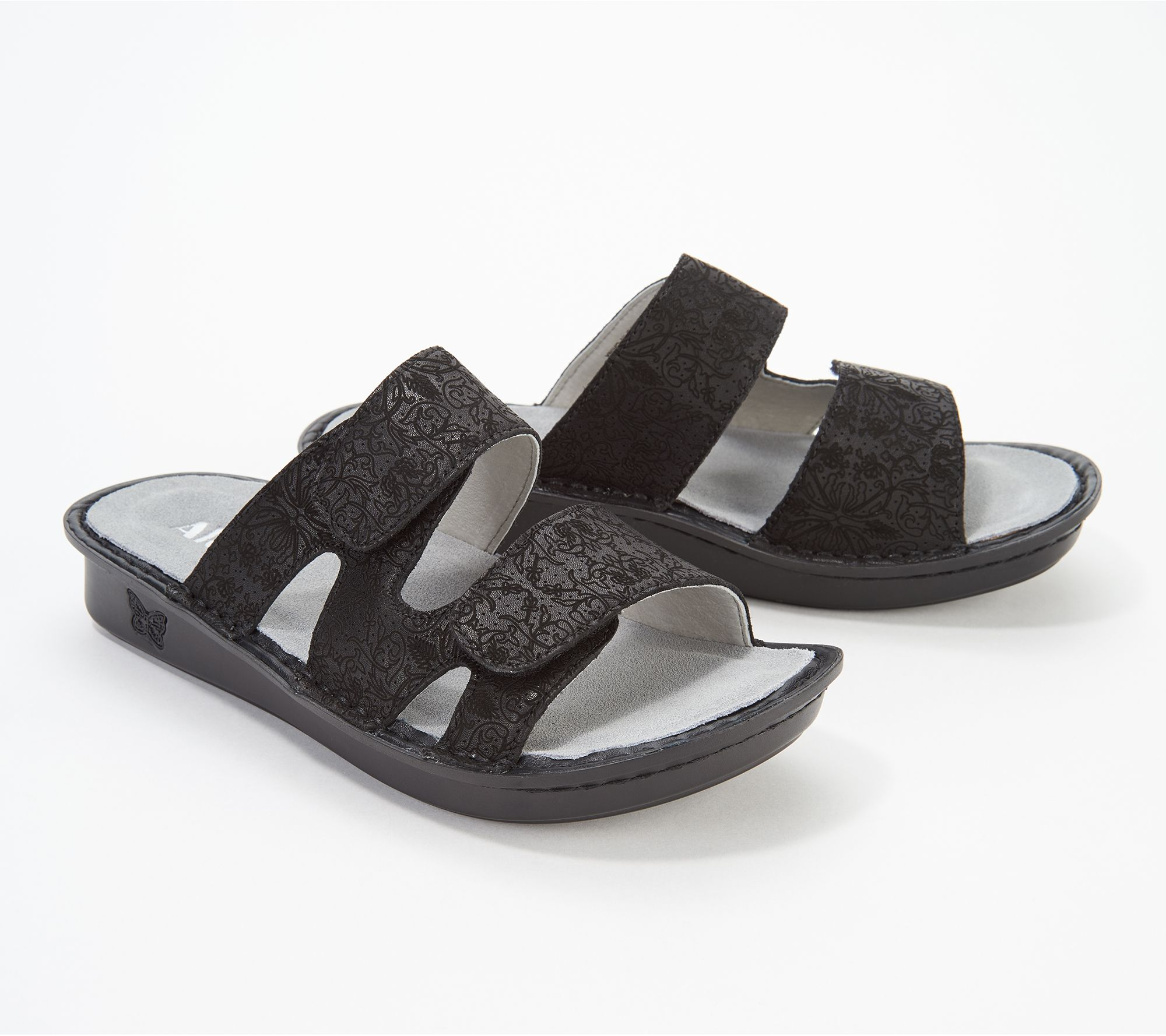 030c12e034c65 Alegria Leather Adjustable Slide Sandals - Stella - Page 1 — QVC.com